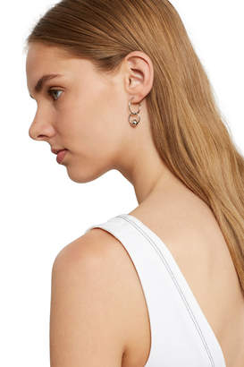 Justine Clenquet Silver Lana Hoop Earrings