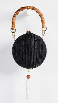 Serpui Marie New Lizzy Wicker Circle Bag