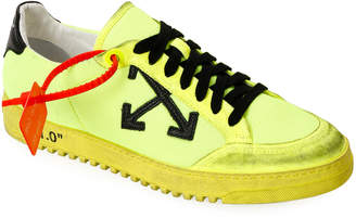 Off-White Off White Men's 2.0 Arrow Low-Top Sneakers with Dirty Treatment