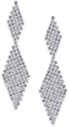 INC International Concepts I.n.c. Silver-Tone Crystal Mesh Drop Earrings