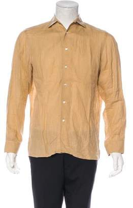 Ralph Lauren Purple Label Linen Button-Up Shirt