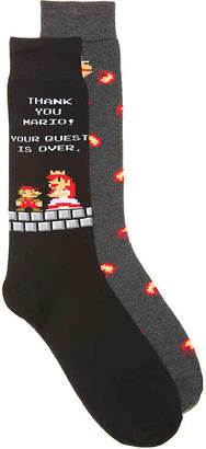 High Point Design Super Mario Peach Crew Socks - 2 Pack - Men's