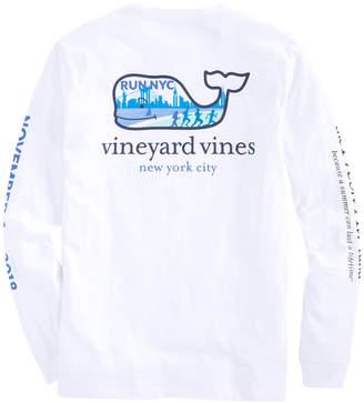Vineyard Vines Mens Long-Sleeve 2018 Skyline NYC Marathon T-Shirt
