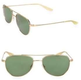 Barton Perreira Men's Aerial 55MM Aviator Sunglasses - Gold Green