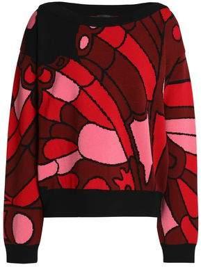 Just Cavalli Jacquard-Knit Sweater