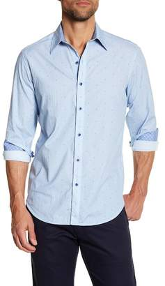 Robert Graham Allover X Print Tailored Fit Dress Shirt $198 thestylecure.com
