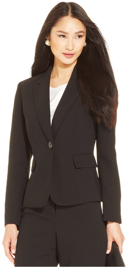 Kasper Petite Jacket, Single Button Notched Collar