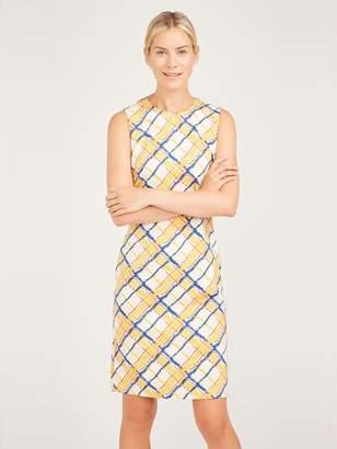 Devon Sleeveless Dress in Chalk Plaid