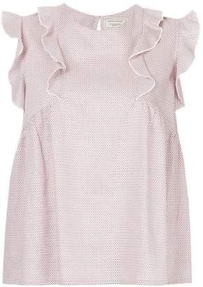 MAISON KITSUNÉ sleeveless ruffle blouse
