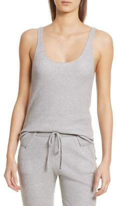 ATM Anthony Thomas Melillo Scoop Neck Cotton & Cashmere Sweater Knit Tank