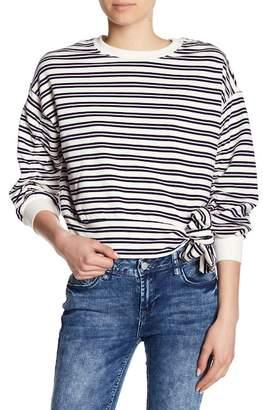 Kensie Striped Shirred Sleeve Shirt