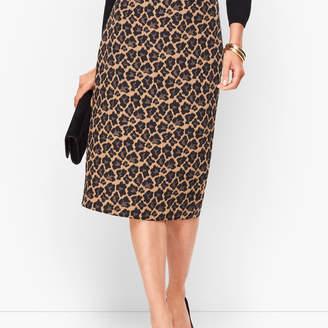 Talbots Leopard Jacquard Pencil Skirt