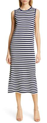 Jenni Kayne Stripe Sleeveless Merino Wool Midi Dress