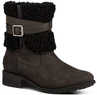 UGG Women's Blayre Round Toe Leather Boots