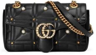 Gucci GG Marmont Matelasse Imitation Pearl Leather Shoulder Bag