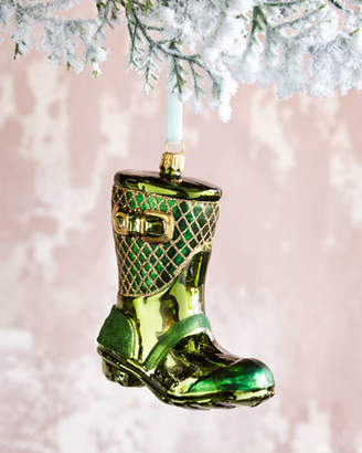 Glass Rain Boot Christmas Ornament