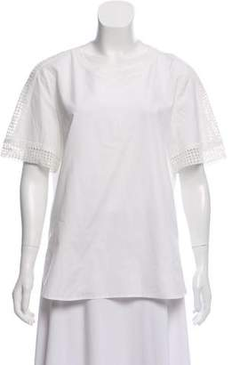 Vince Short Sleeve Scoop Neck Top