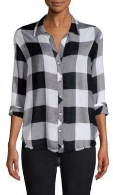 Image result for Bella Dahl Checked Button-Front Shirt