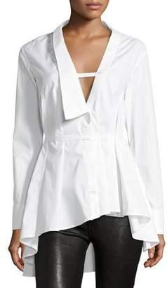 Palmer Harding palmer//harding Extended Collar Long-Sleeve Poplin Shirt