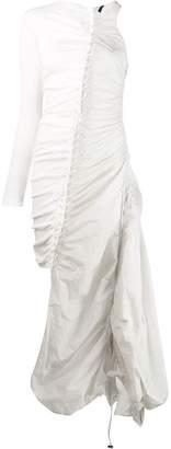 Unravel Project lace-up asymmetric dress