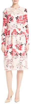 Women's Kate Spade New York Rosa Lace Applique Midi Dress $598 thestylecure.com