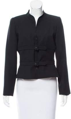 Valentino Virgin Wool Belted Jacket