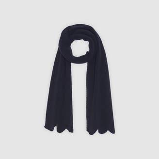 Sandro Plain scalloped scarf
