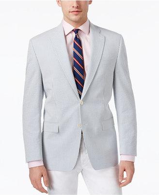 Lauren Ralph Lauren Men's Cotton Classic-Fit Ultra-Flex Seersucker Sport Coat $295 thestylecure.com