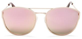 Quay Cherry Bomb Mirrored Cat Eye Sunglasses, 59mm