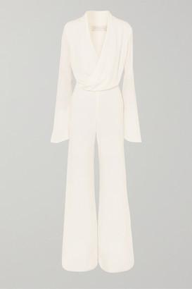Les Héroïnes The Betty Crepe Jumpsuit - White