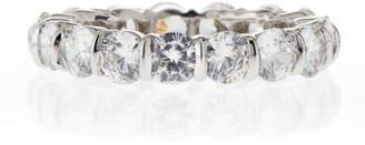 Fantasia Slim Crystal Eternity Band Ring JeuZx