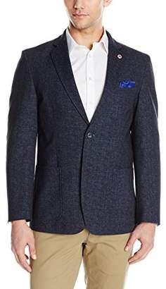 Ben Sherman Men's Two Button Knit Denim Blazer