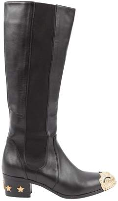 Chanel Leather cowboy boots