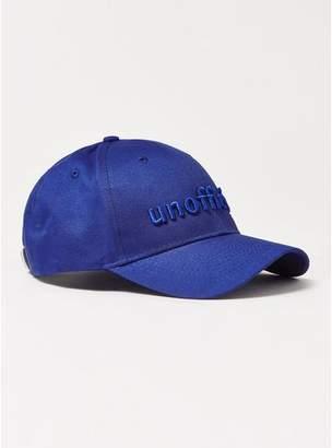 Topman Mens Blue 'Unofficial' Curve Peak Cap