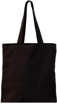 382f47c2fd1 Nuni Unisex DIY Plain Solid Black Canvas Tote Bag (