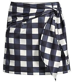 ad1cdb67bb9f Mother of Pearl Women's Silk Blend Gingham Mini Skirt