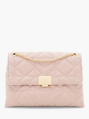6abd1279c2d Dune Evangelina Quilted Clutch Bag, Blush