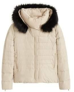 f8d0a201eaf MANGO Detachable hood feather down coat