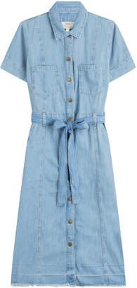 Current/Elliott Belted Denim Shirt Dress