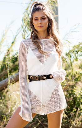 Freya Bb Exclusive Crochet Knit Jumpsuit White