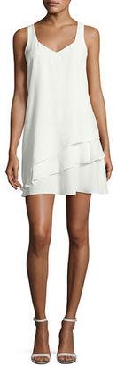 Parker Eve Combo Sleeveless Layered Dress $288 thestylecure.com