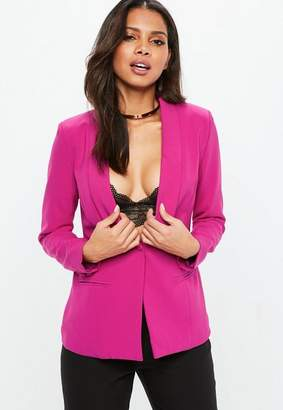 Missguided Purple Tailored Button Blazer