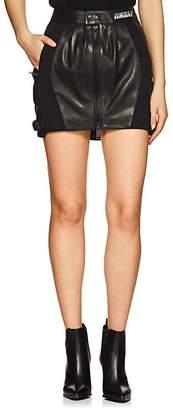 Taverniti So Ben Unravel Project Women's Leather Moto Skirt