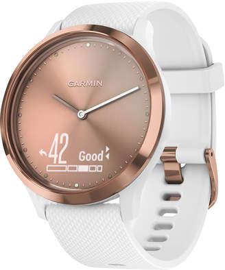 Garmin vivomove Hr White Silicone Strap Hybrid Smart Watch 43mm