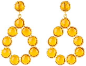 Latelita Hatun Gemstone Statement Earrings Gold Citrine Hydro