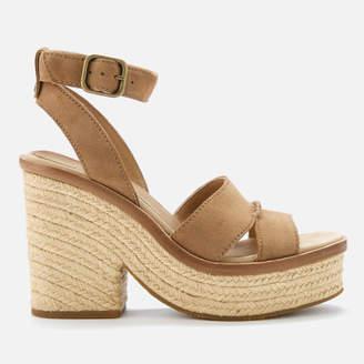 7c159cd42c7 UGG Women s Carine Leather Platform Heeled Sandals