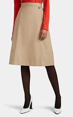 Maison Margiela Women's Gabardine A-Line Skirt - Beige, Tan
