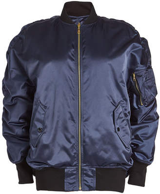Balenciaga Oversized Reversible Satin Bomber Jacket