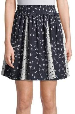 French Connection Floral Komo Drape Skirt