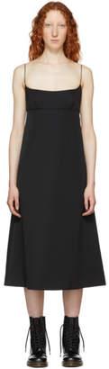 Marc Jacobs Black Redux Grunge Spaghetti Strap Dress